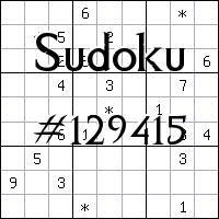 Sudoku №129415