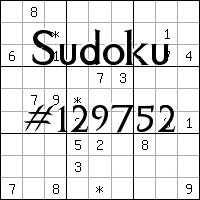 Sudoku №129752