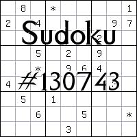 Sudoku №130743