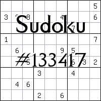 Sudoku №133417