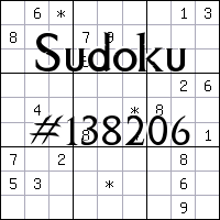 Sudoku №138206
