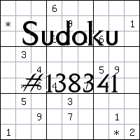 Sudoku №138341