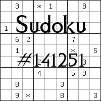 Sudoku №141251