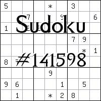 Sudoku №141598
