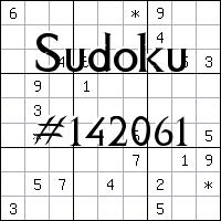 Sudoku №142061
