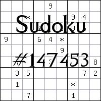 Sudoku №147453