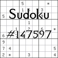 Sudoku №147597