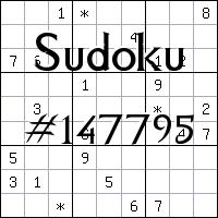 Sudoku №147795