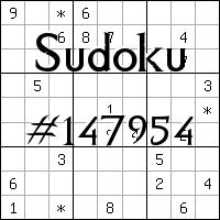 Sudoku №147954