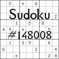 Sudoku №148008