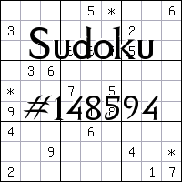 Sudoku №148594