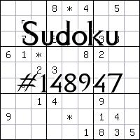 Sudoku №148947