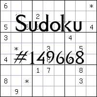Sudoku №149668