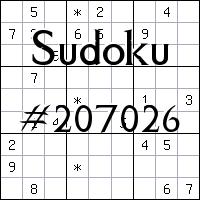Sudoku №207026
