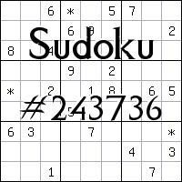 Sudoku №243736