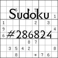Sudoku №286824