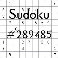 Sudoku №289485