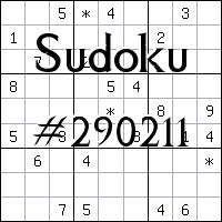 Sudoku №290211