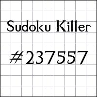 Killer Sudoku №237557
