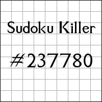 Killer Sudoku №237780