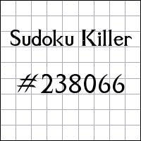Killer Sudoku №238066