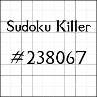 Killer Sudoku №238067