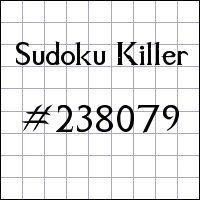 Killer Sudoku №238079