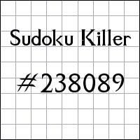 Killer Sudoku №238089