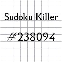 Killer Sudoku №238094