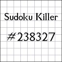 Killer Sudoku №238327