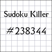 Killer Sudoku №238344