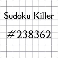 Killer Sudoku №238362