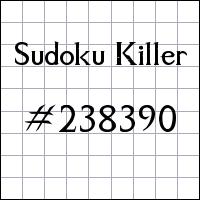 Killer Sudoku №238390
