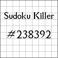 Killer Sudoku №238392
