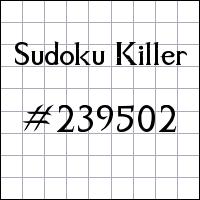 Killer Sudoku №239502