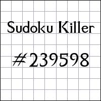 Killer Sudoku №239598