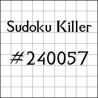 Killer Sudoku №240057