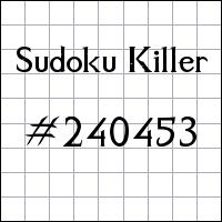 Killer Sudoku №240453