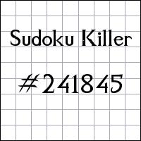 Killer Sudoku №241845
