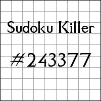 Killer Sudoku №243377