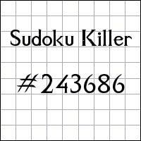 Killer Sudoku №243686