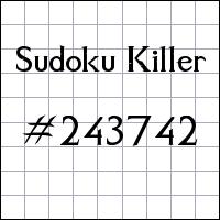 Killer Sudoku №243742