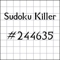 Killer Sudoku №244635
