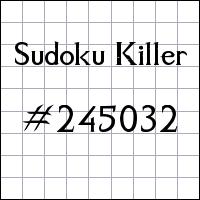 Killer Sudoku №245032