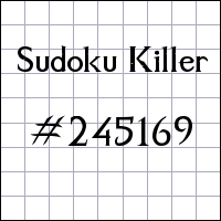 Killer Sudoku №245169