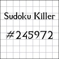 Killer Sudoku №245972