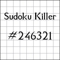 Killer Sudoku №246321