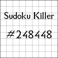 Killer Sudoku №248448