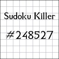 Killer Sudoku №248527