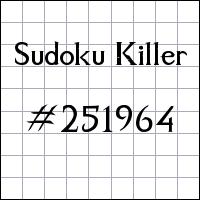 Killer Sudoku №251964